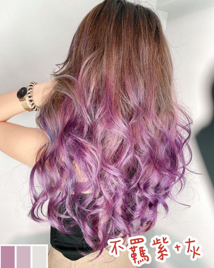 髮色選擇 不羈紫